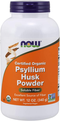 NOW Foods: Psyllium Husk Powder, Certified Organic (12 oz), vitamins, supplements - molecularevolutions.