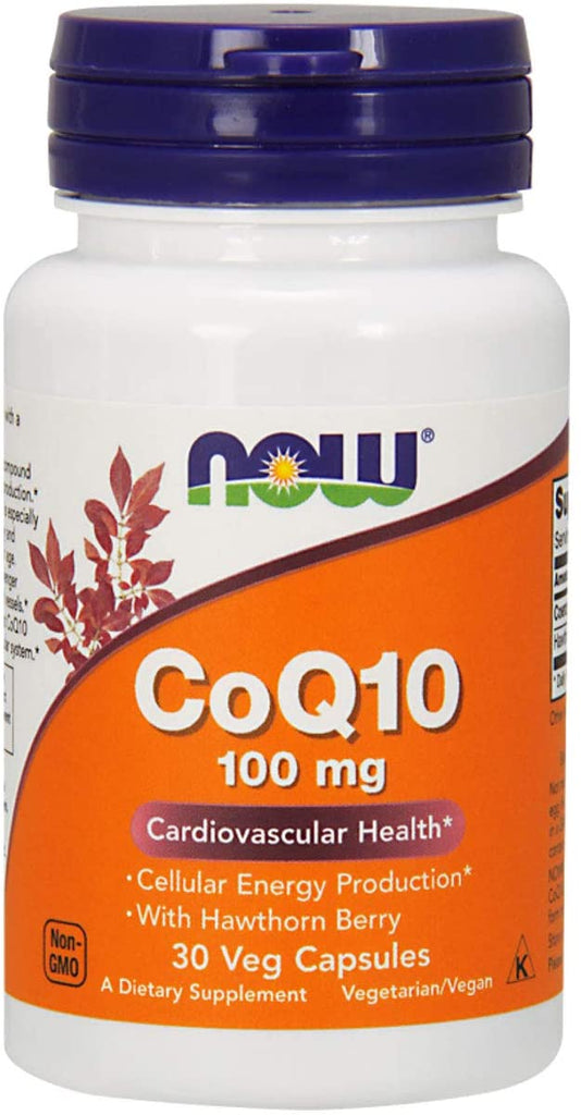 NOW Foods: CoQ10 w/ Hawthorn Berry - 100mg (30 Veg. Caps), vitamins, supplements - molecularevolutions.