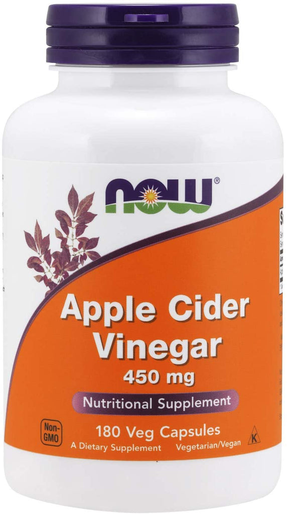 NOW Foods: Apple Cider Vinegar - 450mg (180 Veg. Caps), vitamins, supplements - molecularevolutions.