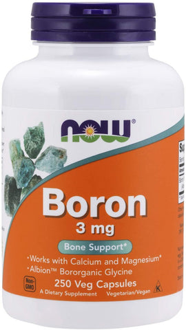 NOW Foods: Boron - 3mg (250 Veg. Capsules), vitamins, supplements - molecularevolutions.