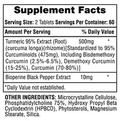 Hi-Tech Pharmaceuticals: Turmeric 95 - 500mg (120 Tabs), vitamins, supplements - molecularevolutions