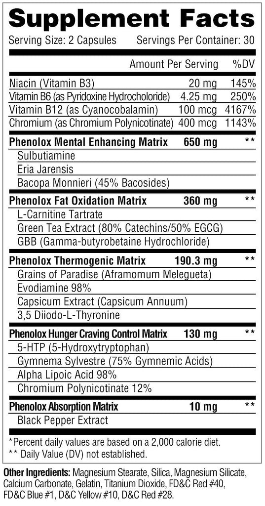 Metabolic Nutrition: Phenolox (60 Caps), vitamins, supplements - molecularevolutions