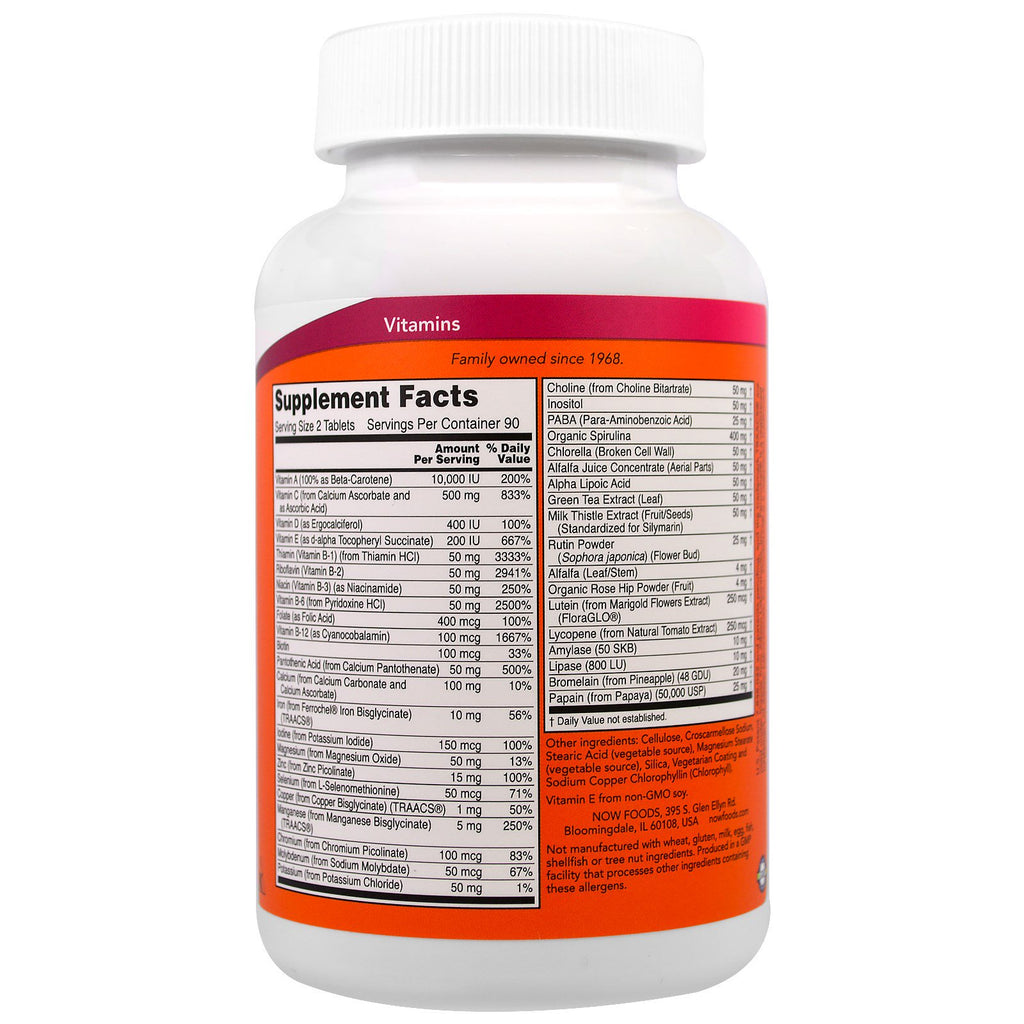 NOW Foods: Special Two Multi-Vitamin, vitamins, supplements - molecularevolutions