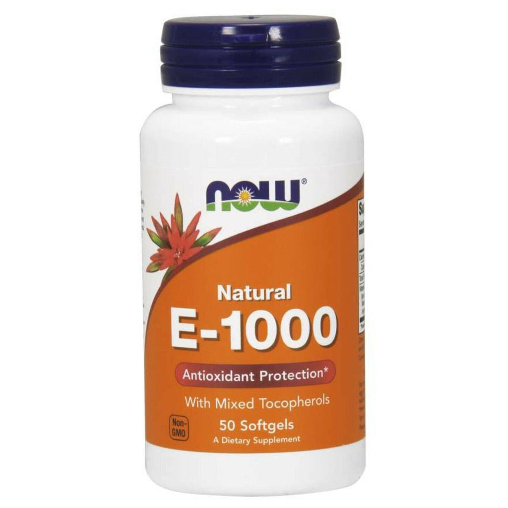 NOW Foods: E-1000 w/ Mixed Tocopherols (50 Softgels)