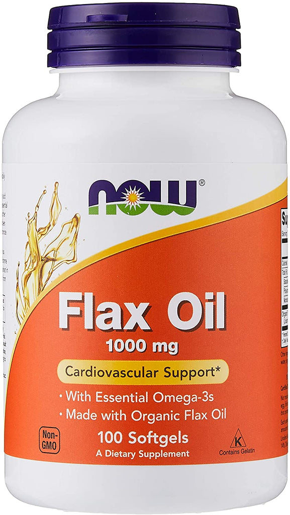 NOW Foods: Flax Oil 1,000mg (100 Softgels), vitamins, supplements - molecularevolutions