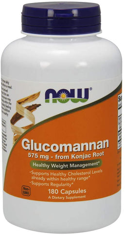 NOW Foods: Glucomannan 575mg (180 Veg. Caps), vitamins, supplements - molecularevolutions.