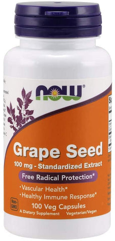 NOW Foods: Grape Seed - 100mg (100 Veg. Caps), vitamins, supplements - molecularevolutions.