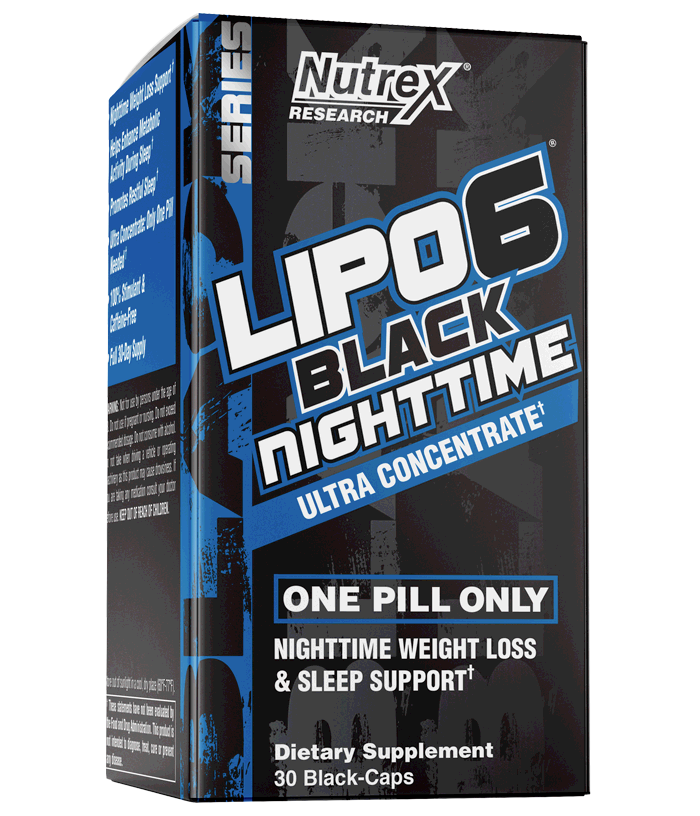 Nutrex Research: Lipo-6 Black Nighttime (30 Caps), vitamins, supplements - molecularevolutions