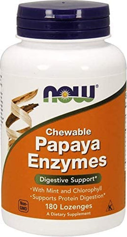 NOW Foods: Chewable Papaya Enzymes (180 Lozenges), vitamins, supplements - molecularevolutions.
