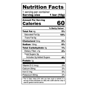 Kickbar - Latte Nutrition Facts