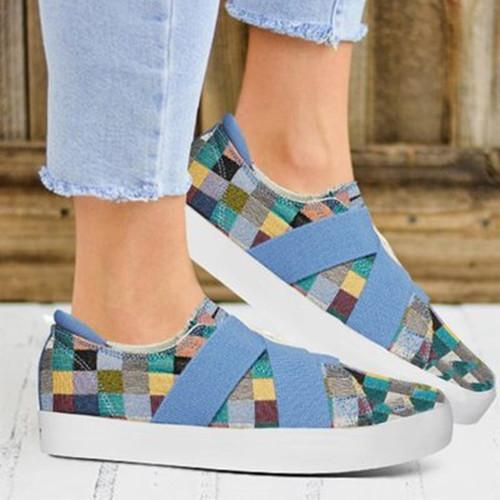 Women Canvas RoundToe Sneakers herhershoes