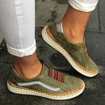 Slide Elastic Band Round Toe Casual Women Sneakers herhershoes