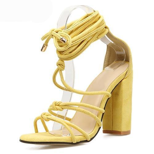 Roman Strap Shoes Women Sandals Sexy Sandals Solid High Heels Woman Ankle Boots herhershoes