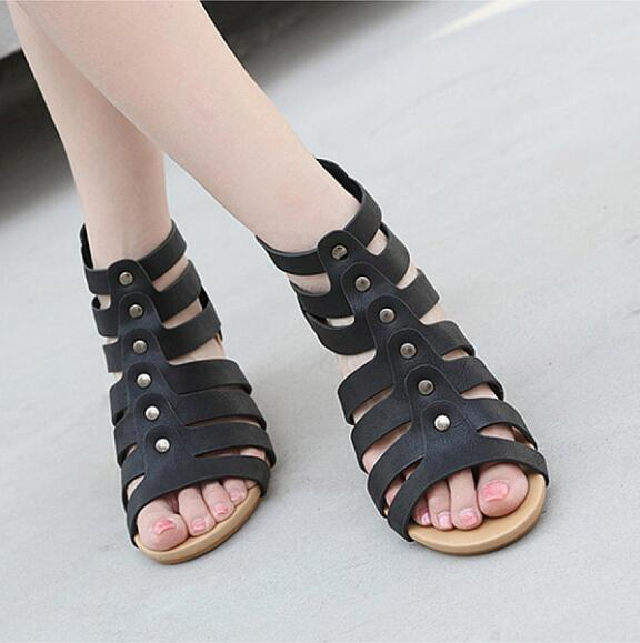 Peep Toe Casual Date Wedge Sandals herhershoes