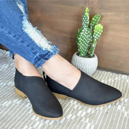 Women PU Sandals Simple Comfort Classic Slip On Shoes herhershoes