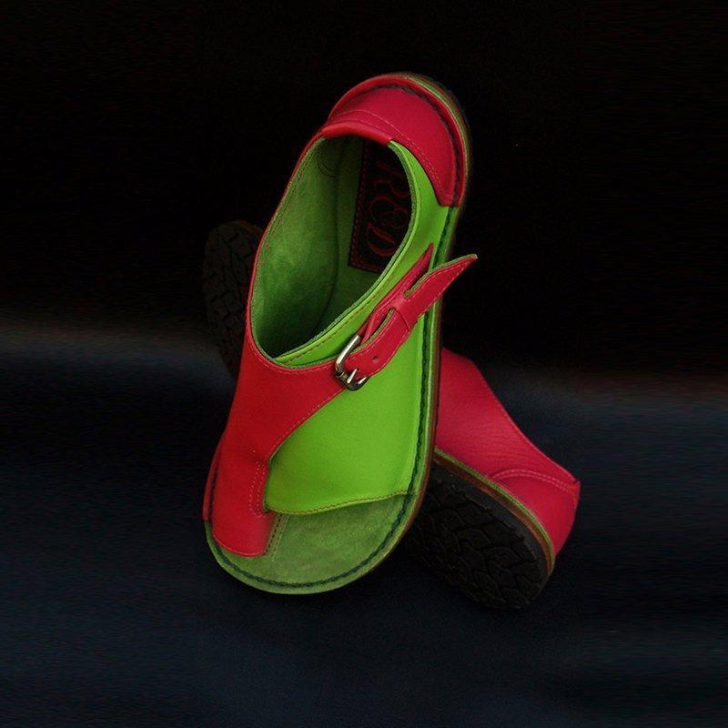 Summer Daily Adjustable Buckle PU Leather Flat Sandals herhershoes