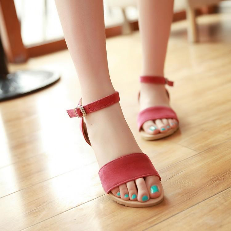 Ankle Straps Women Flat Sandals Shoes herhershoes