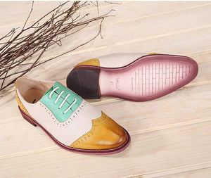 Original Lather Oxford Retro Women's Flat Loafers herhershoes