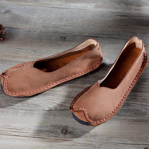 Handmade Soft Casual Loafers Elegant Flat Shoes herhershoes