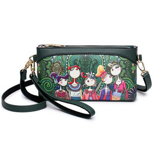 Forest Style PU Leather Crossbody Bag Phone Bag herhershoes