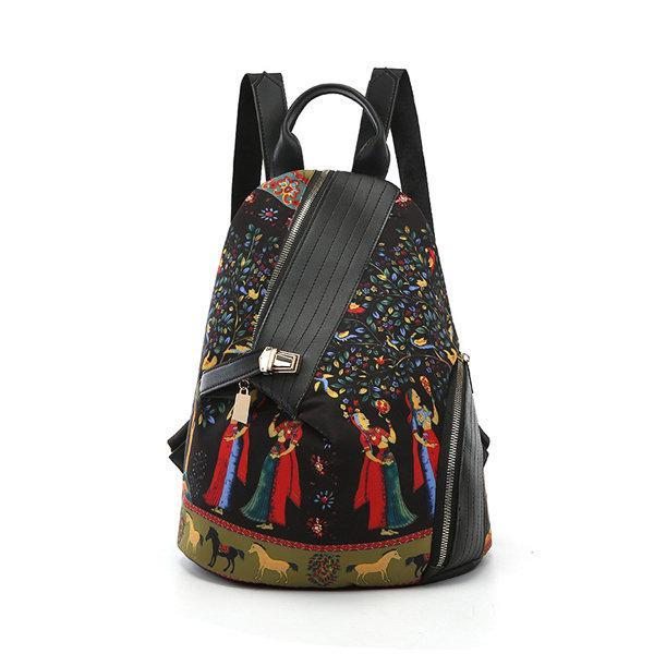 Leisure Print Multi-function Travel Anti-theft Backpack Shoulder Bag herhershoes