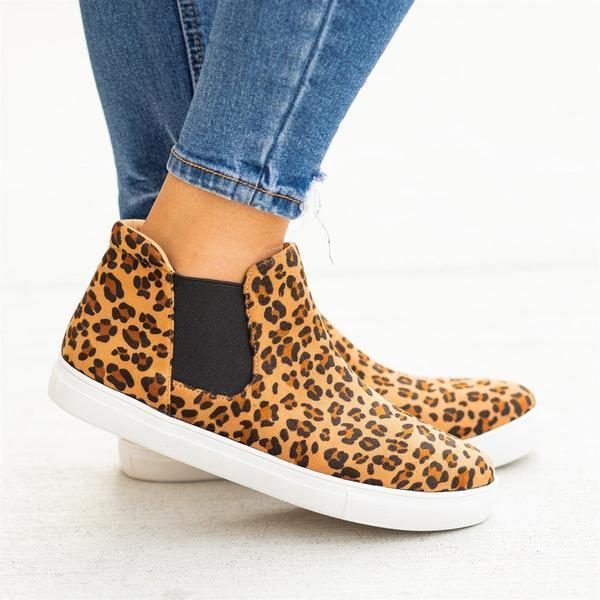 Casual Slip-On Round Head Ankle Sneakers herhershoes