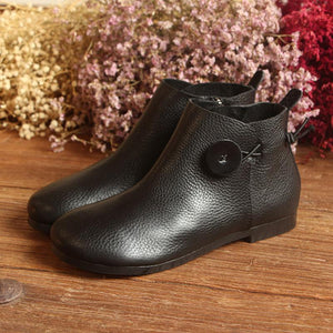 Women Zipper Contract Comfortable Ankle Boots herhershoes