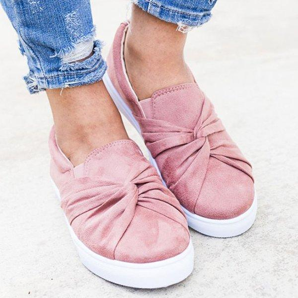 Women Spring Summer Flats Round Toe Comfortable Pedal Flats Daily Loafers Slip-on herhershoes