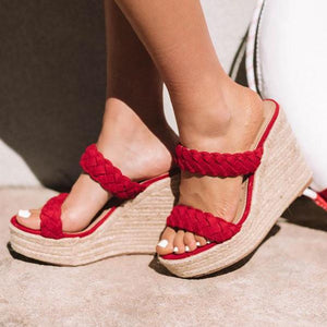 Women Faux Suede Open Toe Sandals herhershoes