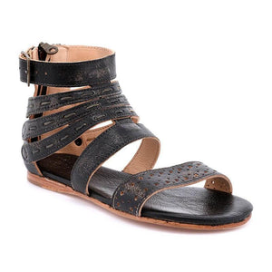WOMEN'S VINTAGE ARTIFICIAL LEATHER ADJUSTABLE BUCKLE SANDALS herhershoes