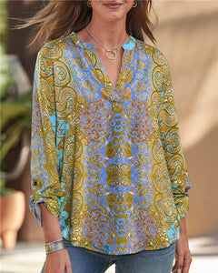 Abstract Bohemian Stylish Women Summer Casual Tops herhershoes