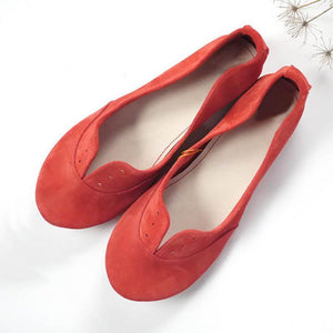 Women Nubuck Flats Casual Comfort Soft Shoes herhershoes