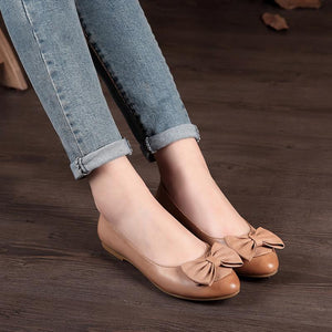 Bow-knot Flat Loafers Women Spring Summer Newly Shoes herhershoes