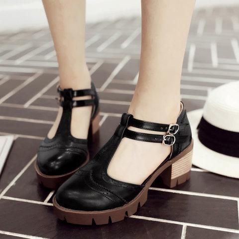 Adjustable Buckle Chunky Heel Casual Women Sandals herhershoes