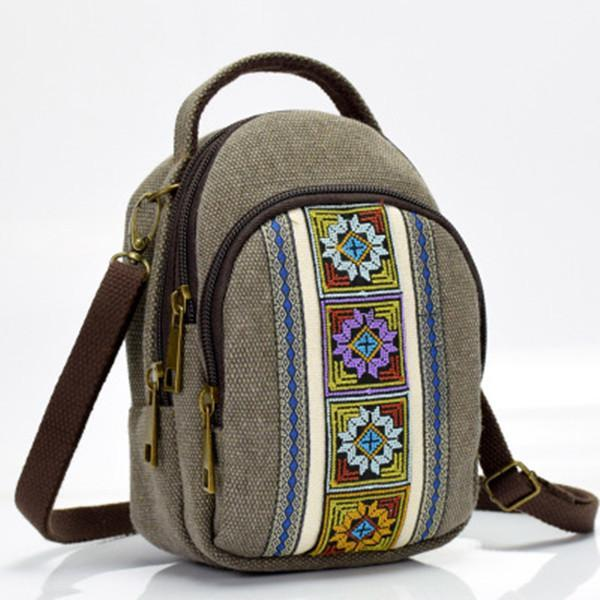 Vintage Casual Canvas Shoulder Bag Crossbody Bag herhershoes