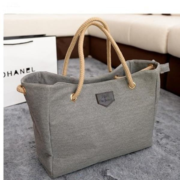 Casual Canvas Tote Messenger Handbag Storage Bag herhershoes