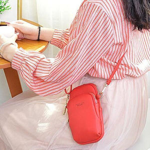 Women Casual Crossbody Bag Solid Phone Bag herhershoes