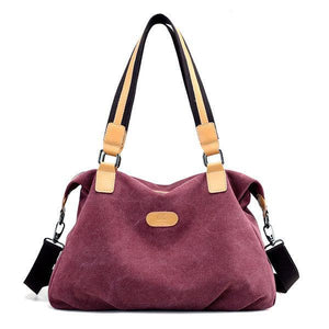 KVKY Canvas Casual Large Capacity Handbag Shoulder Bag herhershoes