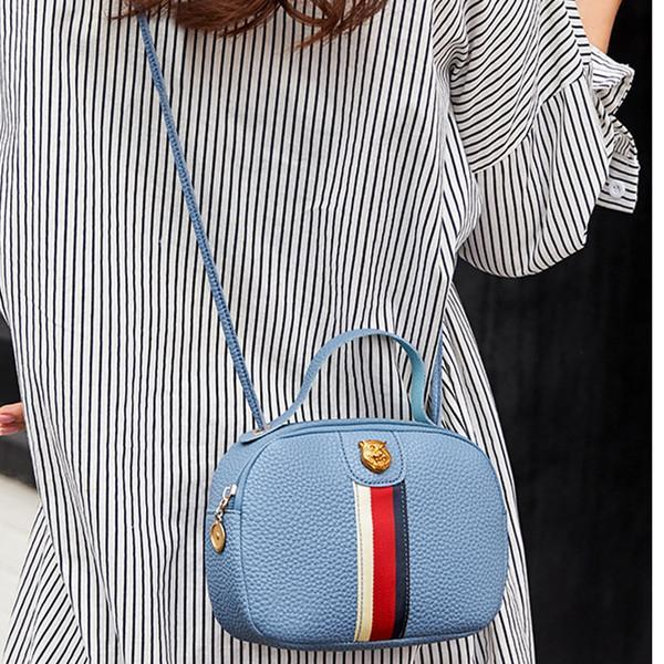 Women's Crossbody Bag Color Block Striped Sweet Ladylike Style Bag herhershoes