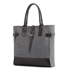 KVKY Canvas Handbag Large Capacity Patchwork Tote Bag herhershoes