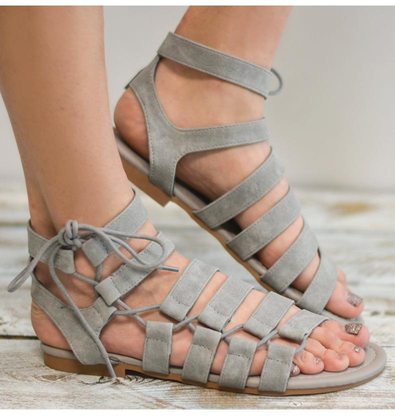 Woman's 2019 Summer New Style Casual Gladiator Beach Flat Sandals herhershoes