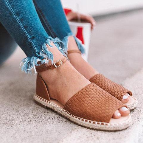 Women Casual Espadrille Flat Sandals herhershoes