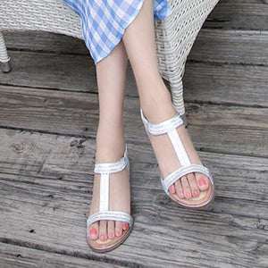 Casual Artificial Diamond Decoration Sandals herhershoes