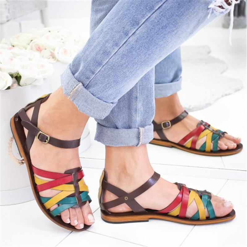 Wild Fresh Color Flat Sandals herhershoes
