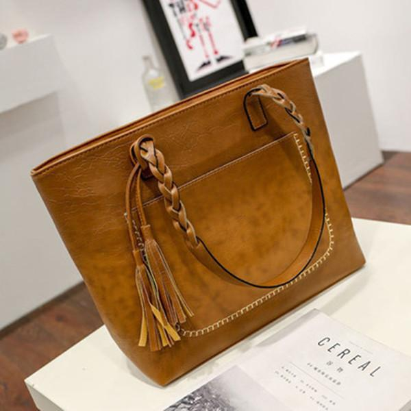 Large-Capacity Tassel Handbag Crossbody Bag herhershoes