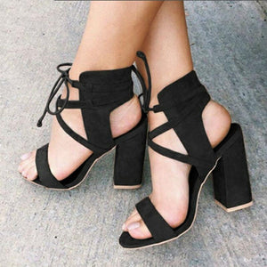 Round Head Buckle Sandals herhershoes