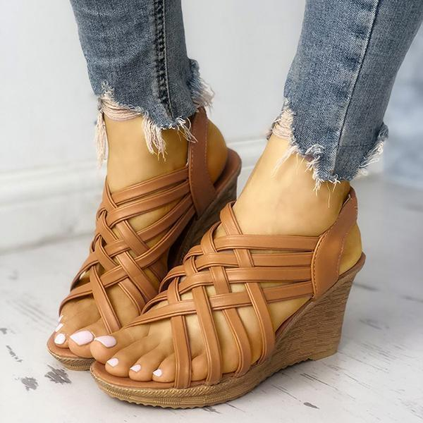 Wedge Woven Belt Sandals herhershoes
