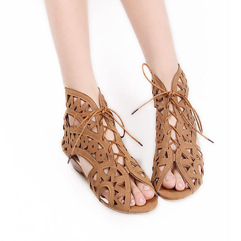 Women Flat Heeled  Hollow Sandals herhershoes