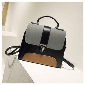 Women's Handbag Colorblock Vintage Stylish Versatile Crossbody Bag herhershoes