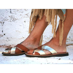 Women Soft leather Casual Sandal Shoes herhershoes
